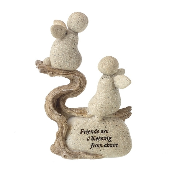 Friends Are Blessing Angels Resin Stone Ornament by Heaven Sends