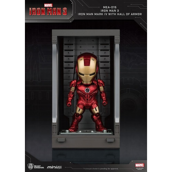 Iron Man 3 Mini Egg Attack Action Figure Hall of Armor Iron Man Mark IV 8 cm