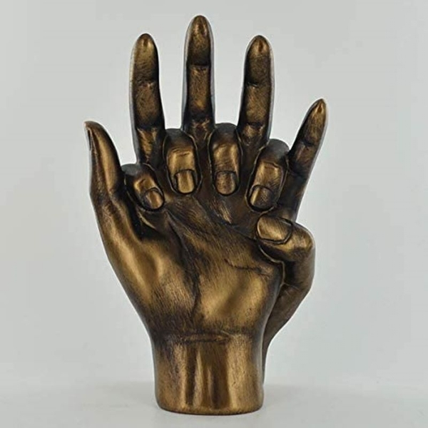 Bronze Effect Hands Entwined Ornament