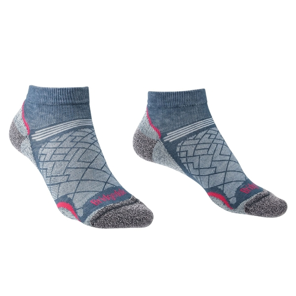 Bridgedale HIKE Ultra Light Coolmax Performance Ankle Womens - Medium Dk Denim