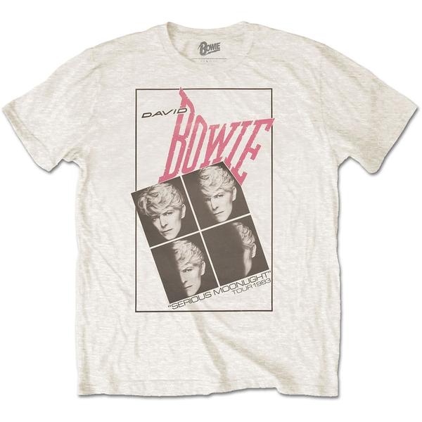 David Bowie - Serious Moonlight Unisex Medium T-Shirt - White