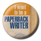 Lyrics by Lennon & McCartney - Paperback Writer Badge