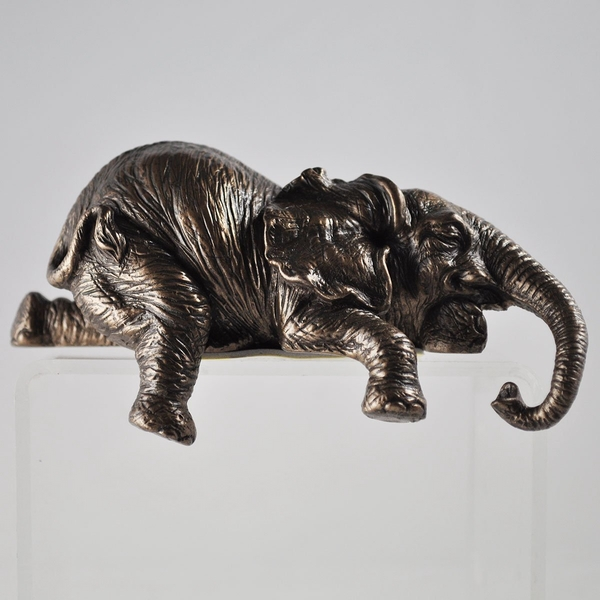 Elephant Cold Cast Bronze Shelf Sitter 6cm