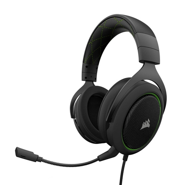 Corsair HS50 Stereo Gaming Headset for PC, Xbox One, PS4, Nintendo Switch Green