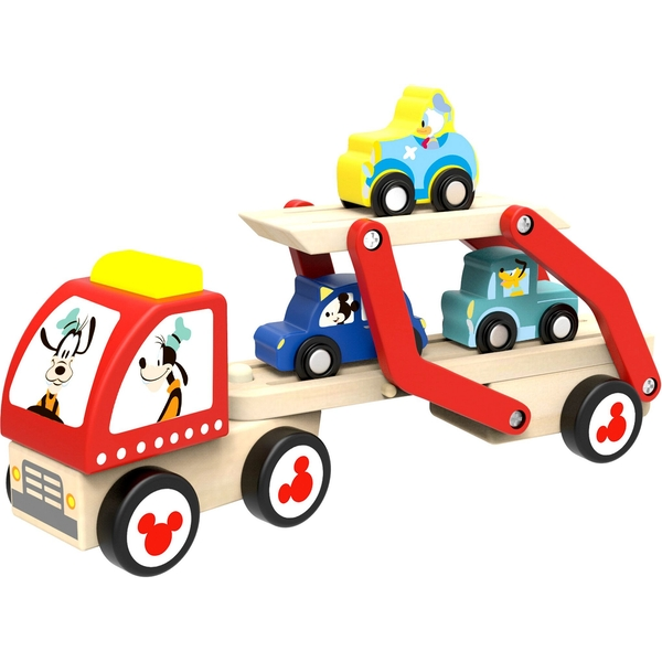 Disney Mickey Mouse Wooden Car Transporter