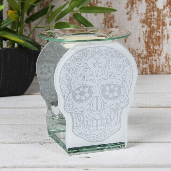 Glass Skull Wax Oil Warmer By Lesser & Pavey