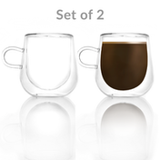 275ml Double Walled coffee glass