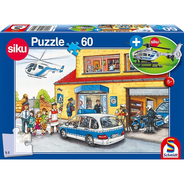 Helicopter 60 Piece Jigsaw Puzzle With SIKU model
