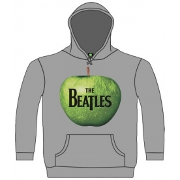 The Beatles Apple Hooded Top Grey: Small