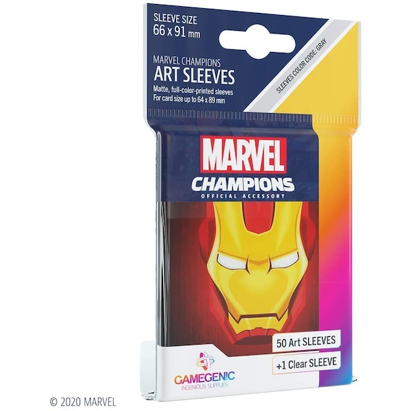 Gamegenic Champions Art Sleeves: Iron Man (50-Pack)