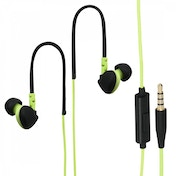 Hama Run Clip-On Sport Earphones Black/Green