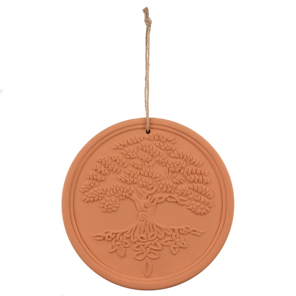Terracotta Tree of Life Plaque by Lisa Parker