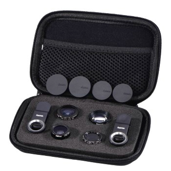 """Hama """"Uni"""" 5-in-1 Lens Set, MC, for Smartphones and Tablets"""
