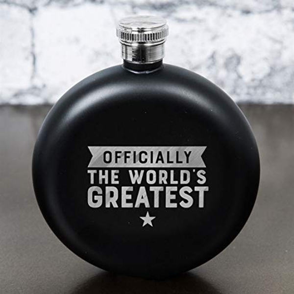 Hero Black Finish Round Hipflask - Officially The World's