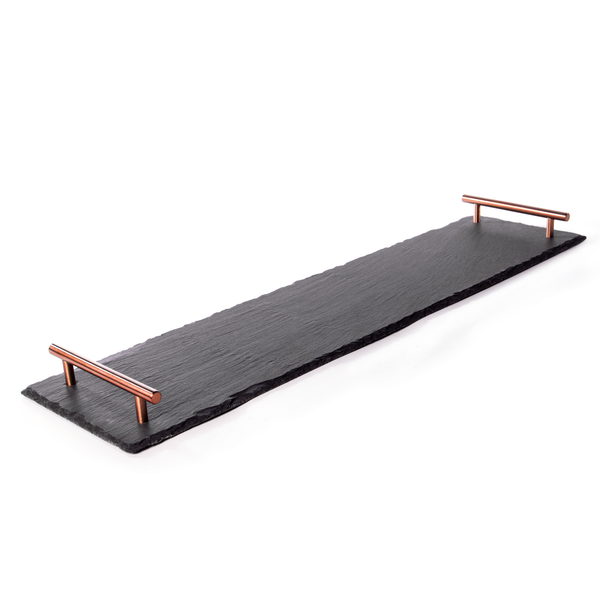 Slate Serving Platter with Handles | M&W Rose Gold