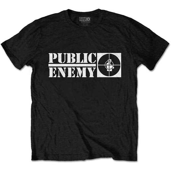 Public Enemy - Crosshairs Logo Unisex Large T-Shirt - Black