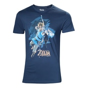 Nintendo - Link With Bow Box Art Cover Men's X-Large T-Shirt - Blue