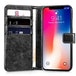 Apple iPhone X 2 in 1 PU Leather Wallet Case - Black - Image 2
