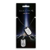 Halo 4 UNSC Dog Tags with Brushed Metal Finish
