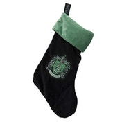 Slytherin Harry Potter Fleece Christmas Stocking Woven Badge  47x30cm