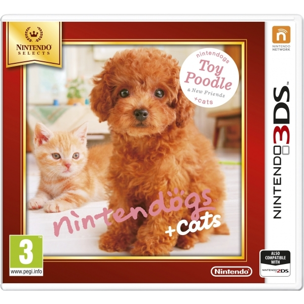 Nintendogs + Cats Toy Poodle & New Friends Edition 3DS Game (Selects)