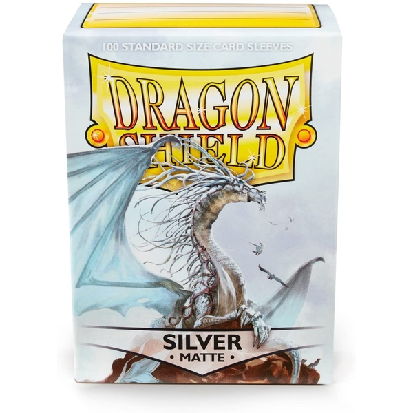 Dragon Shield Silver Matte Card Sleeves - 100 Sleeves