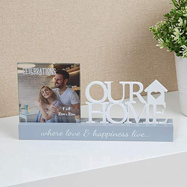 "4"" x 4"" - Celebrations Photo Frame - Our Home"