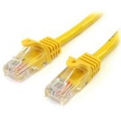 StarTech 2m Cat5e Yellow Snagless RJ45 UTP Cat 5e Patch Cable - 2m Patch Cord