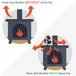 Ex-Display Heat Powered Stove Fan | Wood Log Burner Fireplace | Eco Friendly M&W Used - Like New - Image 3