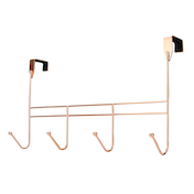 Over Door 4 Coat Hooks Rose Gold | M&W
