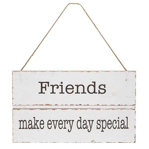 Homestyle Hanging Wood Plaque Friends