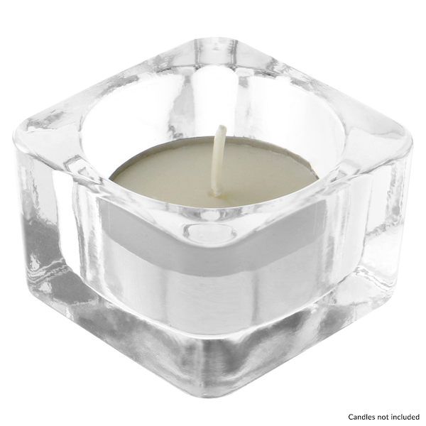 Square Glass Tea light Holder | M&W 12 New - Image 3