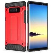 Caseflex Samsung Galaxy Note 8 Armoured Shockproof Carbon Case - Red