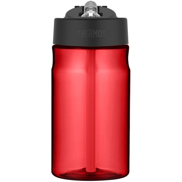 Thermos Hydration Bottle with Straw Red 355ml