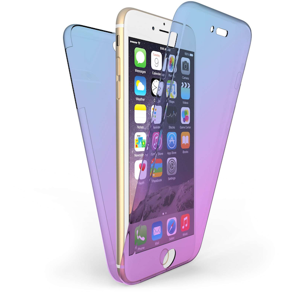 Compare prices with Phone Retailers Comaprison to buy a Apple iPhone 6 / 6S Plus Full Body 360 TPU Gel Case Blue / Purple