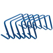 Precision Flat Hurdles Set Blue (Set of 6) - 12 Inches