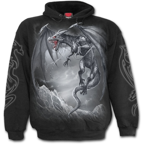 Dragon's Cry Men's XX-Large Hoodie - Black