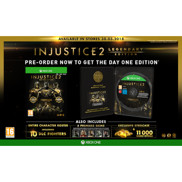 injustice 2 legendary day one edition xbox one game inc. Black Bedroom Furniture Sets. Home Design Ideas