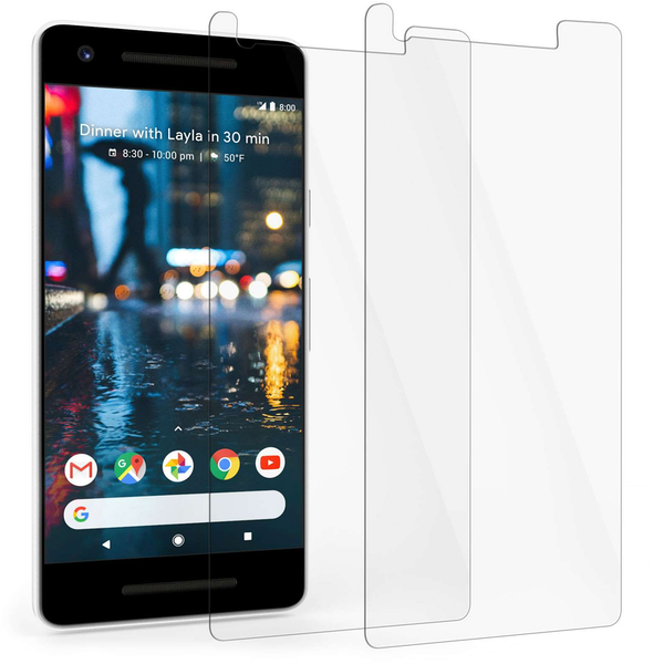 Google Pixel 2 Tempered Glass Screen Protector - Twin Pack