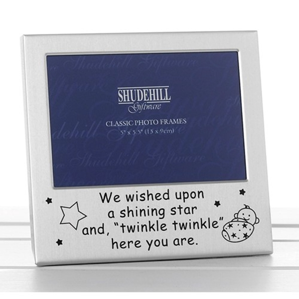 Satin Silver Occasion Frame Twinkle Twinkle 5x3
