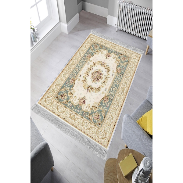 599HFT1680 ELS1832 - Turquoise Multicolor Rug (80 x 200)