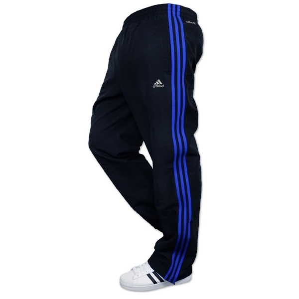 4144c0a3c49 Adidas Striped Tracksuit Bottoms Jog Pants Dark Blue & Blue Small ...