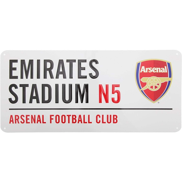 Arsenal FC White Street Sign
