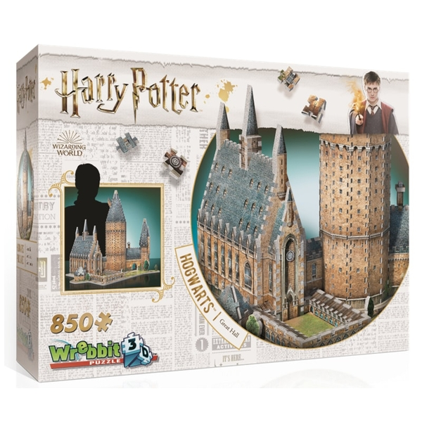 Image of Wrebbit 3D Harry Potter Hogwarts Great Hall Jigsaw Puzzle - 850 Pieces