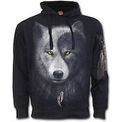 Wolf Chi Side Pocket Men's Small Hoodie - Black