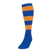 Precision Hooped Football Socks Mens Royal/Amber