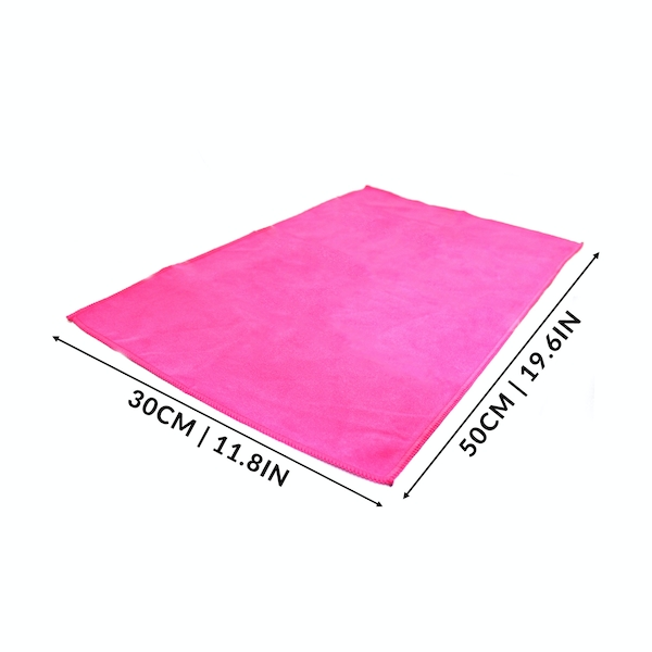 Quick Drying Microfiber Towel. Lightweight Home & Gym Pukkr Pink Small (50x30cm)