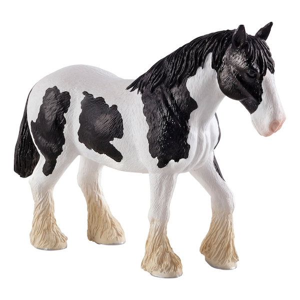 ANIMAL PLANET Farm Life Clydesdale Black and White Horse Toy Figure