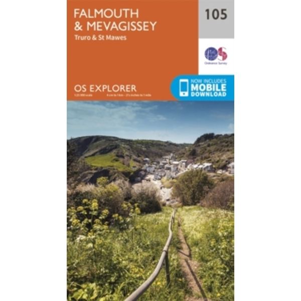 Falmouth and Mevagissey, Truro and St Mawes by Ordnance Survey (Sheet map, folded, 2015)