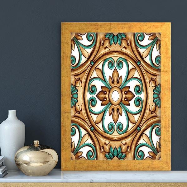 AC4821034124 Multicolor Decorative Framed MDF Painting